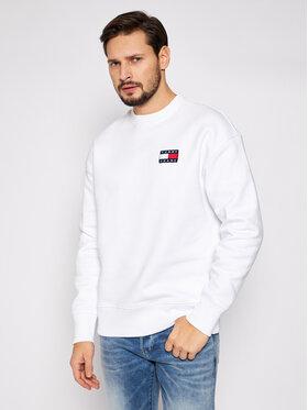 Tommy Jeans Tommy Jeans Sweatshirt Tjm Badge Crew DM0DM06592 Weiß Regular Fit