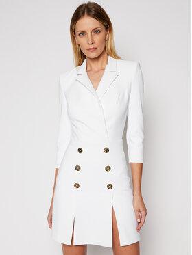 Elisabetta Franchi Elisabetta Franchi Коктейлна рокля AB-080-11E2-V460 Бял Slim Fit