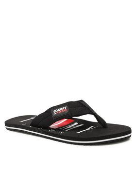 Tommy Jeans Tommy Jeans Джапанки Beach Sandal EM0EM00691 Черен