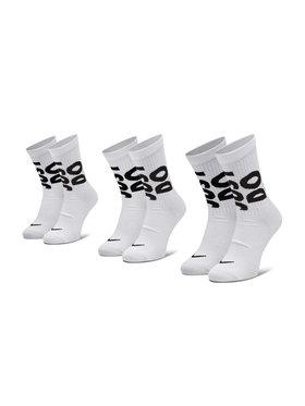 NIKE NIKE Σετ 3 ζευγάρια ψηλές κάλτσες unisex CT0539 Λευκό