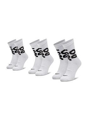 Nike Nike Set de 3 perechi de șosete medii unisex CT0539 Alb