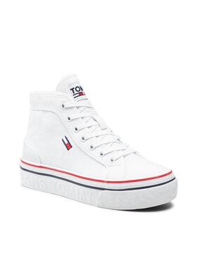 Tommy Jeans Tommy Jeans Sneakersy Mid Flatform Vulc EN0EN01414 Biały