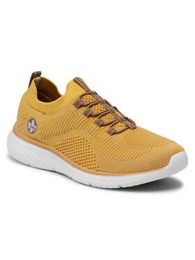 Rieker Rieker Sneakersy N9474-69 Żółty