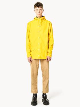Rains Rains Kurtka przeciwdeszczowa Unisex Essential 1201 Żółty Regular Fit