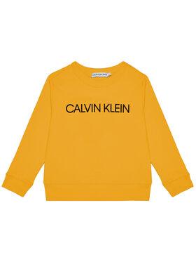 Calvin Klein Jeans Calvin Klein Jeans Felpa Unisex Institutional Logo IU0IU00162 Giallo Regular Fit