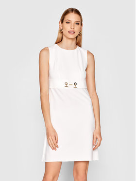 Rinascimento Rinascimento Sukienka codzienna CFC0102458003 Biały Regular Fit