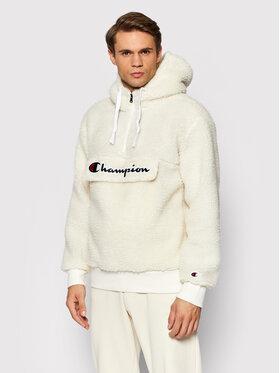 Champion Champion Polár kabát Half Zip-Up 214978 Fehér Regulat Fit