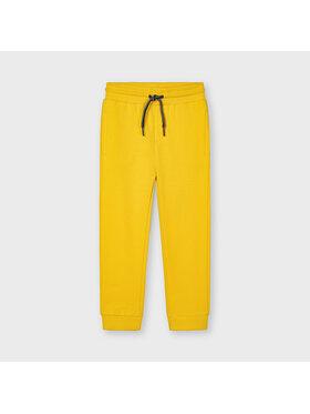 Mayoral Mayoral Spodnie dresowe 742 Żółty Regular Fit