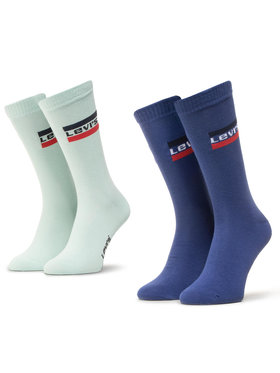 Levi's® Levi's® Sada 2 párů pánských vysokých ponožek 903013001 Tmavomodrá
