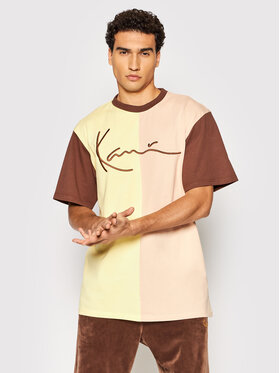 Karl Kani Karl Kani Тишърт Signature Block 6030937 Жълт Regular Fit