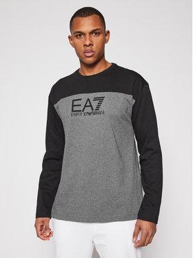 EA7 Emporio Armani EA7 Emporio Armani Тениска с дълъг ръкав 6HPT54 PJT3Z 3925 Сив Regular Fit