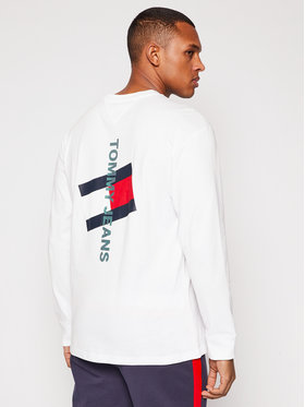 Tommy Jeans Tommy Jeans Тениска с дълъг ръкав Tjm Vertical Logo DM0DM10241 Бял Regular Fit