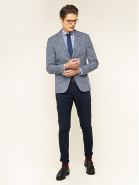 Tommy Hilfiger Tailored Tommy Hilfiger Tailored Košile Check Classic TT0TT06471 Modrá Slim Fit
