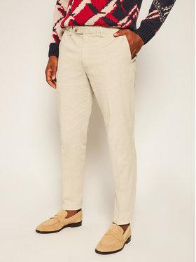 Oscar Jacobson Oscar Jacobson Pantaloni din material Danwick 5176 4305 Bej Slim Fit