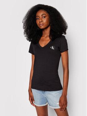 Calvin Klein Jeans Calvin Klein Jeans T-Shirt Monogram` J20J217166 Černá Slim Fit