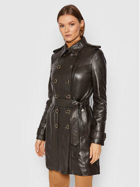 Guess Guess Veste en cuir Felicia W1BL25 L0PK0 Marron Slim Fit