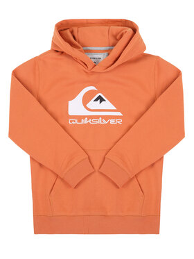 Quiksilver Quiksilver Bluza Big Logo Hoodie EQBFT03593 Pomarańczowy Regular Fit