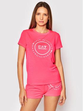 EA7 Emporio Armani EA7 Emporio Armani Тишърт 3KTT22 TJ1TZ 1427 Розов Regular Fit