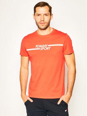 Tommy Sport Tommy Sport T-Shirt Core Chest Graphic S20S200444 Červená Regular Fit