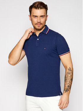Tommy Hilfiger Tommy Hilfiger Polo Tipped MW0MW16054 Σκούρο μπλε Slim Fit