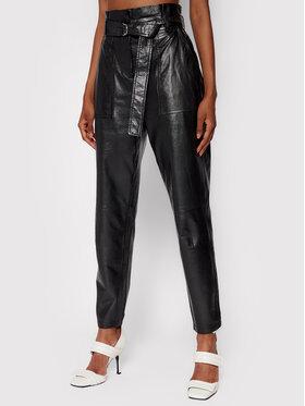 IRO IRO Кожени панталони Kani AP008 Черен Regular Fit