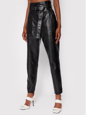 IRO IRO Pantalon en cuir Kani AP008 Noir Regular Fit