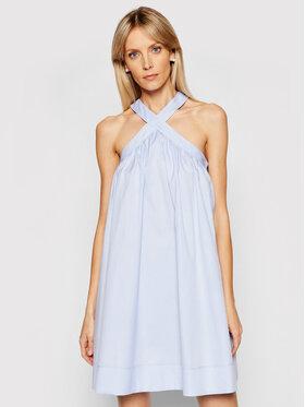 Victoria Victoria Beckham Victoria Victoria Beckham Letní šaty Oxforf Shirting 2221WDR002622B Modrá Relaxed Fit