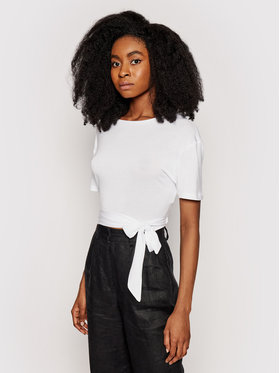 NA-KD NA-KD Блуза 1100-003730-0001-003 Бял Slim Fit