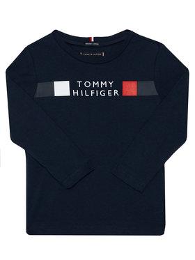 TOMMY HILFIGER TOMMY HILFIGER Bluzka Global Stripe Tee KB0KB06108 M Granatowy Regular Fit