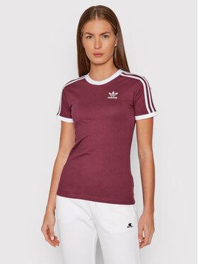 adidas adidas T-Shirt adicolor Classics 3-Stripes H06774 Bordowy Regular Fit