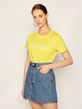 Calvin Klein Calvin Klein Marškinėliai Core Logo K20K202142 Geltona Regular Fit