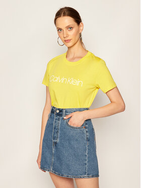 Calvin Klein Calvin Klein Тишърт Core Logo K20K202142 Жълт Regular Fit