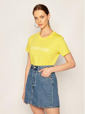 Calvin Klein Calvin Klein Tričko Core Logo K20K202142 Žltá Regular Fit