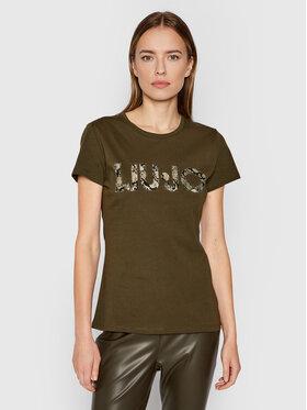 Liu Jo Liu Jo T-shirt WF1449 J6287 Zelena Slim Fit