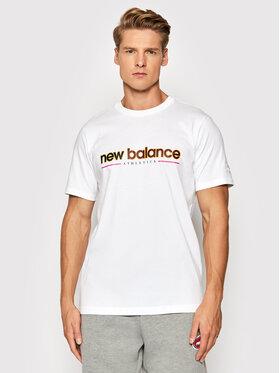 New Balance New Balance Marškinėliai MT13500 Balta Relaxed Fit