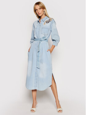 TwinSet TwinSet Φόρεμα τζιν 211MT2641 Μπλε Regular Fit