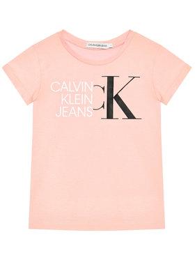 Calvin Klein Jeans Calvin Klein Jeans Marškinėliai Hybrid Logo IG0IG00888 Rožinė Slim Fit