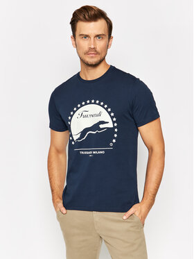 Trussardi Trussardi T-shirt 52T00449 Blu scuro Regular Fit