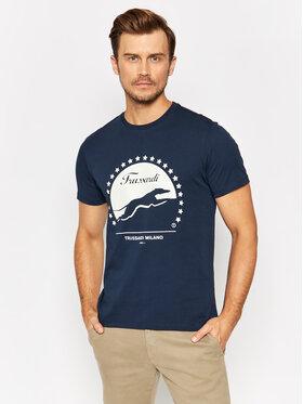 Trussardi Trussardi T-Shirt 52T00449 Granatowy Regular Fit