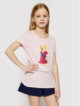 Polo Ralph Lauren Polo Ralph Lauren T-shirt Bear 313838265002 Rose Regular Fit