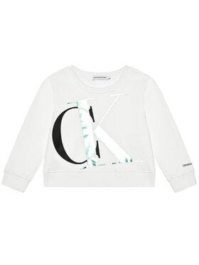 Calvin Klein Jeans Calvin Klein Jeans Džemperis Exploded Monogram Bxy IG0IG00685 Balta Regular Fit