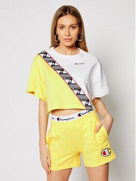 Champion Champion T-Shirt Croptop 112767 Žlutá Custom Fit