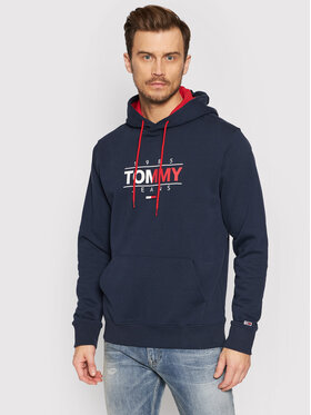 Tommy Jeans Tommy Jeans Bluza Tjm Essential Graphic DM0DM11630 Granatowy Regular Fit