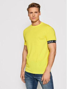 Dsquared2 Underwear Dsquared2 Underwear T-Shirt D9M3S3450.73114 Žlutá Slim Fit