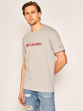 Columbia Columbia T-shirt CSC Basic Logo EM2180 Siva Regular Fit