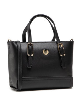 Tommy Hilfiger Tommy Hilfiger Torbica Honey Small Tote AW0AW09656 Crna