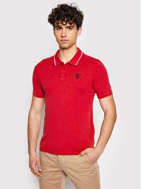 Guess Guess Polo M1GP54 K9WF1 Czerwony Slim Fit