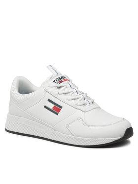 Tommy Jeans Tommy Jeans Sneakersy Flexi Leather Tjm Runner EM0EM00818 Biela