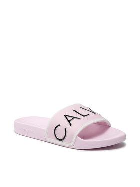 Calvin Klein Jeans Calvin Klein Jeans Nazouváky Slide Padded Ck Pes-Pu YW0YW00131 Růžová