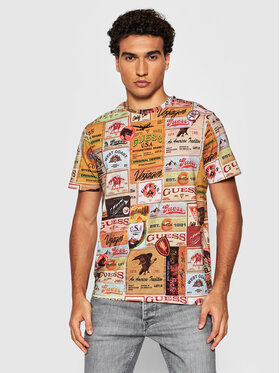 Guess Guess T-Shirt MBBI41 K8HA1 Barevná Regular Fit